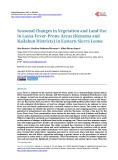 Seasonal Changes in Vegetation and Land Use in Lassa-Fever-Prone Areas (Kenema and Kailahun Districts) in Eastern Sierra Leone