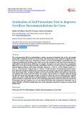 Evaluation of Soil Potassium Test to Improve Fertilizer Recommendations for Corn