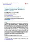 Factors Affecting Tree Husbandry and Woodlots Establishment in Kilimanjaro Region, Tanzania