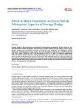 Effect of Alkali Treatment on Heavy Metals Adsorption Capacity of Sewage Sludge
