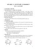 Hóa học 12 - Chuyên đề Cacbonhiđrat
