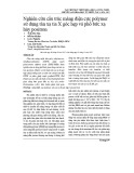 Nghiên cứu cấu trúc màng điện cực polymer sử dụng tán xạ tia X góc hẹp và phổ bức xạ hủy positron