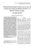 Đánh giá biến lượng di truyền con lai cây cao su thuộc hai tổ hợp lai PB260 x RO44/71 và PB260 x RO62/54 bằng kỹ thuật RAPD
