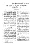 Đặc điểm âm học của phụ âm đầu trong tiếng Việt