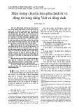 Hiện tượng chuyển loại giữa danh từ và động từ trong tiếng Việt và tiếng Anh