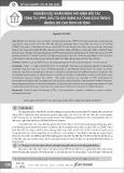 Nghiên cứu nhân rộng mô hình đối tác công tư (PPP) đầu tư xây dựng hạ tầng giao thông đường bộ cho tỉnh Hà Tĩnh