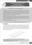 Sơ bộ xác định chiều sâu xẻ khe của tấm mặt đường bê tông xi măng thông thường