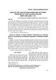 Khảo sát kết quả sử dụng kháng sinh dự phòng trong mổ lấy thai tại Khoa Phụ sản, Bệnh viện Quân y 103