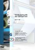 Tài liệu hướng dẫn Sản xuất sạch hơn: Ngành Dệt nhuộm
