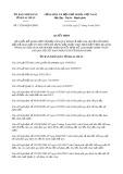 Quyết định số 17/2019/QĐ-UBND tỉnh LaiChâu