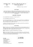 Quyết định số 1624/2019/QĐ-TTg