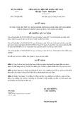 Quyết định số 1707/2019/QĐ-BTC