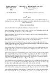 Quyết định số 2859/2019/QĐ-UBND tỉnh ThừaThiênHuế