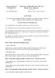 Quyết định số 16/2019/QĐ-UBND tỉnh BạcLiêu