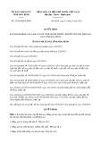 Quyết định số 35/2019/QĐ-UBND tỉnh HòaBình