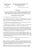 Quyết định số 1960/2019/QĐ-UBND tỉnh CàMau