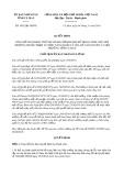 Quyết định số 1953/2019/QĐ-UBND tỉnh CàMau