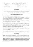 Quyết định số 1529/2019/QĐ-UBND tỉnh CàMau