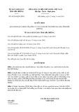 Quyết định số 49/2019/QĐ-UBND tỉnh HảiDương