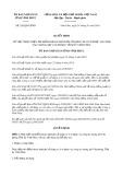 Quyết định số 292/2019/QĐ-UBND tỉnh VĩnhPhúc