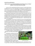 Kết quả dự án xây dựng mô hình sản xuất rau ăn lá an toàn không cần đất quy mô hộ gia đình