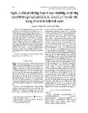 Nghiên cứu phản ứng Paal-Knorr sử dụng chất lỏng ion từ tính (Fe2O3@SiO2-IL-ZnxCly) làm xúc tác trong điều kiện hóa học xanh