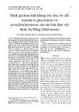 Hoạt tính kháng oxy hóa, ức chế enzyme α-glucosidase và acetylcholinesterase của sáu loài thực vật thuộc họ Bông (Malvaceae)