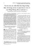 Vai trò của các chất điều hòa tăng trưởng thực vật trong sự tạo cơ quan hoa in vitro ở cây Hồng Nhung (Rosa hybrida L.)