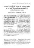 Một số vấn đề về thủ tục rút gọn quy định tại bộ luật Tố tụng Dân sự năm 2015 dưới góc nhìn so sánh