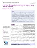 Đánh giá sự sẵn sàng triển khai hệ thống BI của các doanh nghiệp trong môi trường ERP