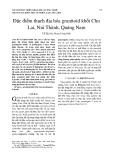 Đặc điểm thạch địa hóa granitoid khối Chu Lai, Núi Thành, Quảng Nam