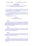Pháp lệnh của Uỷ ban Thường vụ Quốc hội số 11/1999/PL-UBTVQH10 ngày 8 tháng 2 năm 1999 về du lịch