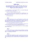 Hiệp định giữa chính phủ Cộng hoà Xã hội Chủ nghĩa Việt Nam và chính phủ Vương quốc Ma-Rốc ngày 28 tháng 6 năm 2001 về tăng cường quan hệ thương mại-kinh tế, xúc tiến thương mại và hàng hoá dịch vụ