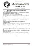Đề cương ôn tập học kì 1 môn Lịch sử 10 năm 2019-2020 - Trường THPT Xuân Đỉnh