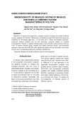 Immunogenicity of measles vaccine of measles and rubella combined vaccine manufactering by polyvac