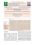 Adoption of integrated rice-fish farming system by farmer of Ramchandrapuram
