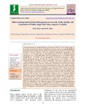 Effect of integrated nutrient management on growth, yield, quality and economics of fodder sugar beet (Beta vulgaris) varieties