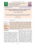 Genetic studies on parental diversity in relation to yield of promising hybrids in upland cotton (Gossypium hirsutum L.)