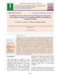 Variability and genetic advance for seed yield and its components in castor (Ricinus communis L.) germplasm of Crida under rain-fed conditions in Alfisols