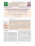 Effect of varieties and planting geometry on the yield performance of rice (Oryza sativa L.) under aerobic system of cultivation