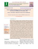 Impact of online marketing of cotton on cost of marketing and involvement of middlemen in Karnataka, India