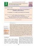 Effect of marigold organic liquid manure for production of field bean (Lablab purpureus)