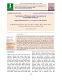 Nutritional and physicochemical characteristics of foxtail millet genotypes