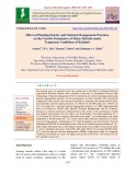 Effect of planting density and nutrient management practices on the growth parameters of maize hybrids under temperate conditions of Kashmir