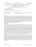 Considerations for a regression based real estate valuation and appraisal model: A pilot study