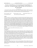 The test of the efficiency of the Saudi financial capital markets at weak form: An empirical study of the TASI index and sub indices of the Saudi market
