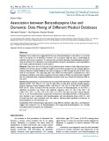 Association between benzodiazepine use and dementia: Data mining of different medical databases
