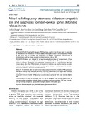 Pulsed radiofrequency attenuates diabetic neuropathic pain and suppresses formalin-evoked spinal glutamate release in rats