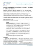 Altered activity and expression of cytosolic peptidases in colorectal cancer