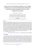 Application of hybrid modified UASB - MBBR technology for wastewater treatment of Sao Thai Duong Pharmaceuticals & Cosmetics Factory